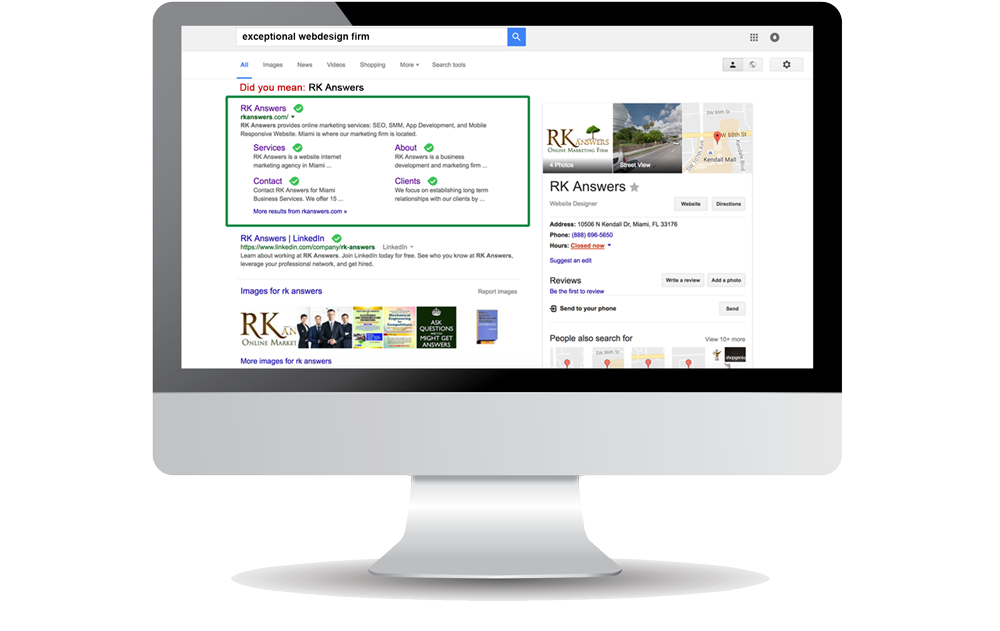computer with seo results