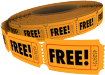 roll of tickets marked free